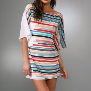Alice + Olivia Kingsley Silk Kimono Tunic Dress